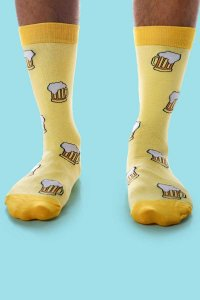 Curious Beaver Don't Worry Beer Happy Socks