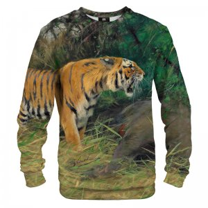 Mr. Gugu & Miss Go Tiger And Its Prey Unisex Sweater S-PC1682