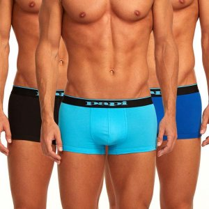 Papi [3 Pack] Cotton Stretch Brazilian Trunk Underwear Blue 980501