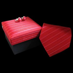 Distino Of Melbourne Self Stripe Silk Necktie Box Set 41