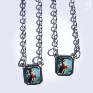 CA-RIO-CA Scapular Saint Sebastian Mini Necklace Color CRC-N...