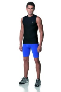 Lupo Compression A Muscle Top T Shirt Black 70030-1