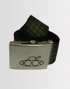 Kear&Ku Dog Tooth Belt Green/Black