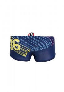 Spy Henry Lau Number Square Cut Trunk Swimwear Blue SP788AA44ZETHK