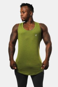Jed North Vital Muscle Top T Shirt Green JNTOP041