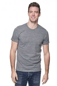 Royal Apparel Unisex Eco Triblend Short Sleeved T Shirt Eco Tri Grey 32051