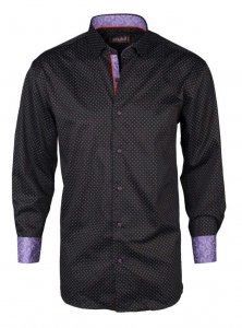 Spazio Rajani Long Sleeved Shirt Black 4-3092