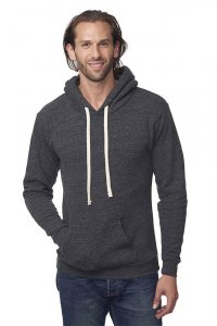 Royal Apparel Unisex Eco Triblend Fleece Pullover Hoody Long Sleeved Sweater Eco Tri Charcoal 37055