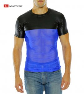 Go Softwear Hard Core Maverick Short Sleeved T Shirt Black/Royal 4196