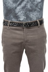 Sopopular Brandon Studded Belt Black 4-12-13-031-113