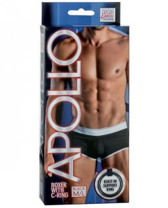 Apollo C Ring Boxer Brief Underwear Black SE4202