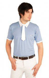 Litex Equestrian Riding Polo Racing Short Sleeved Shirt Grey...
