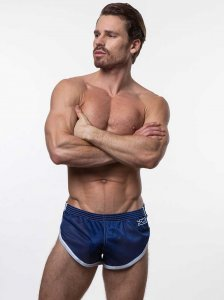 N2N Bodywear Euro Split Shorts Navy ES2