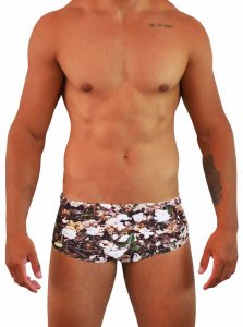 Project Contraband Not Quite Dead Square Cut Trunk Swimwear