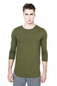 Sopopular Ash 3/4 Long Sleeved T Shirt Forest Green 204-11-19