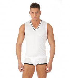Gregg Homme GENTLEMEN Muscle Top T Shirt White 121622