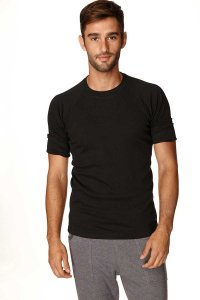 4-rth Hybrid Raglan Short Sleeved T Shirt Black