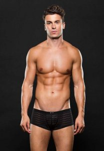 Envy Stripe Microfiber Trunk Underwear Black E051