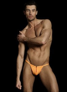 MaleBasics Zipper Thong Underwear Orange MBL25