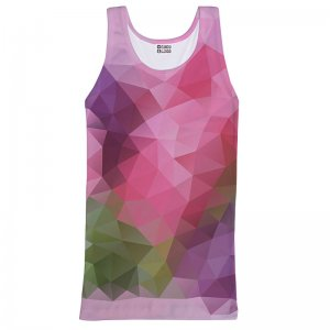 Mr. Gugu & Miss Go Violet Geometric Unisex Tank Top T Shirt TT651