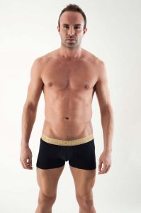 Geronimo Contour Boxer Brief Underwear Black 1356B7