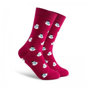 Curious Beaver S'Now Or Never Socks Snowman CBM