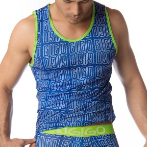 Gigo GIGO BLUE Tank Top T Shirt G10003