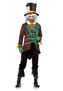 Leg Avenue Classic Mad Hatter Costume Brown 85317