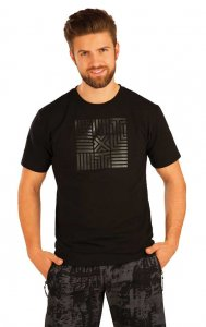 Litex Decorative Print Short Sleeved T Shirt Black 54147