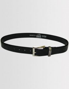 Kear&Ku Leather Croc Belt Black