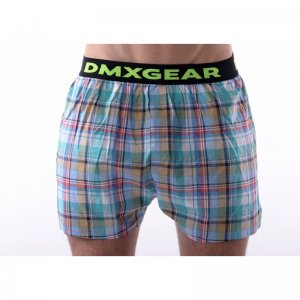 DMXGEAR Tartan Luxury Loose Boxer Shorts Underwear Green DMX...