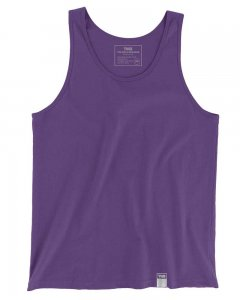 The Well Branded 100% Soft Airlume Cotton Classix Tank Top T Shirt Grape Compote