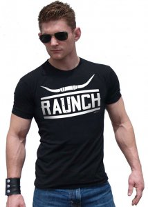 Ajaxx63 Raunch Athletic Fit Short Sleeved T Shirt Black AS10...