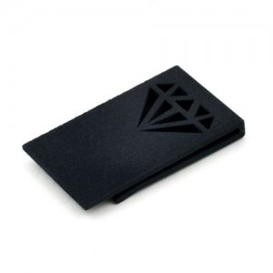 Ulterior Motive Diamond Money Clip Black
