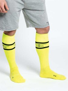 Mister B Urban Football Pocket Socks Neon Yellow 820160
