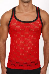 Pistol Pete Cirrus Tank Top T Shirt Red TK135-527