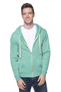 Royal Apparel Unisex Eco Triblend Fleece Full Zip Hoody Long Sleeved Sweater Eco Tri Kelly 37050
