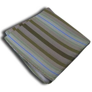 Distino Of Melbourne Stripe Pocket Square Handkerchief Khaki...