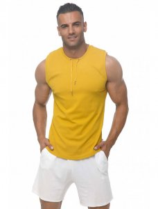 Marcuse Hero Muscle Top T Shirt Mustard