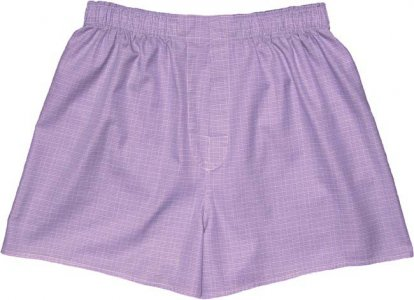 Charlie Dog The Abe Checks Loose Boxer Shorts Underwear Purp...