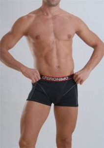Geronimo Boxer Brief Underwear Black 833B1