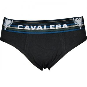 Cavalera Cotton/Elastane Brief Underwear Black 440-02