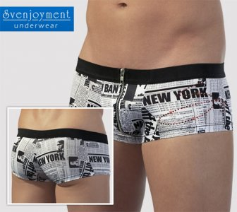 Svenjoyment Newspaper Zip Hipster Boxer Brief Underwear 2130920