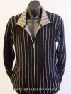 Possum New Zealand Reversible Possum Merino Pinstripe Flyer Jacket