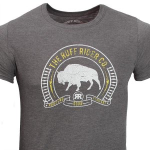 Ruff Riders Roam Like The Buffalo Short Sleeved T Shirt Midnight Navy
