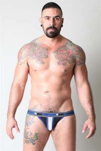CellBlock 13 Alpha Jock Strap Underwear Blue CBU050