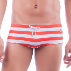 Jor Lines Boxer Swimwear Red 0094