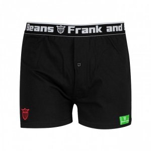 Frank & Beans Coloured Tag Boxer Brief Underwear Black/Green