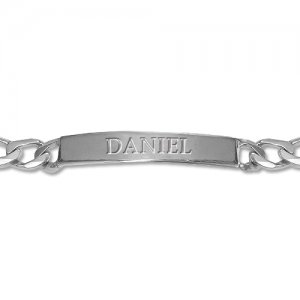 Personalized Men's Jewelry Heavy Sterling Silver ID Bracelet 110-03-098-02