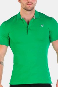 Jed North Premiere Polo Short Sleeved Shirt Green JNTOP017